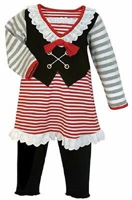Pirate Baby Girl Costume (NWT Stephan Baby Girl 5 pc Pirate Dress Up pr Halloween Costume (12-18)
