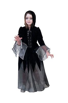 Hexen-Kostüm Kinder Gothic Horror Hexe Mädchen-Kostüm Halloween-Kostüm KK