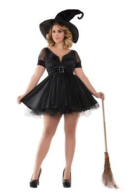 Party King Women's Plus Size Bewitching Pin-Up Witch - Plus Size Pin Up Costume