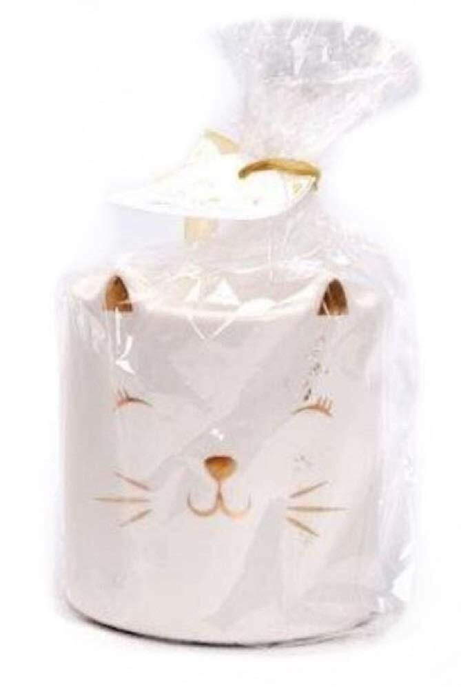 Glossy Cat Wax Melter/Oil Burner Cat Tea Light Holder & Room Fragrancer