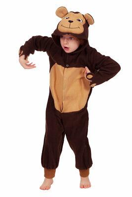 Affenkostüm Kinder Affe Plüsch Overall mit Kapuze Tierkostüm - Plüsch Affe Kostüme