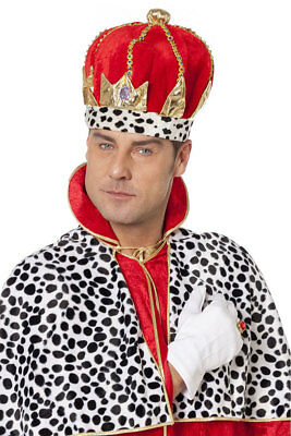 Königs Krone für Erwachsene Königshut Mittelalter König Karneval Fashing KK