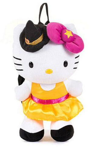 "FAB Sanrio Hello Kitty Witch Halloween Costume 14"" Plush Backpack Bag FP3068126"