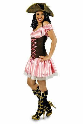 Piratenkostüm Damen Piratin sexy rosa braun Seeräuber Freibeuterin - Sexy Braune Piraten Kostüme