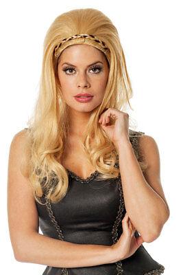 Perücke Griechische Göttin blond Damen-Perücke Römerin hochgesteckt Fasching KK