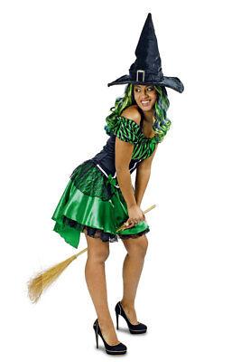 Hexen-Kostüm Damen Sexy Hexe Wald-Märchen grün schwarz Halloweenkostüm - Grüne Hexen Kostüm