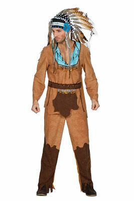 Indianer Kostüm Herren hochwertig Häuptling Cherokee Fasching Karneval - Cherokee Kostüme