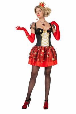Herzkönigin Kostüm Damen sexy Alice im Wunderland Spielkarte-n - Schwarz Alice Im Wunderland Kostüme