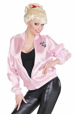 50er Jahre Kostüm Damen Pink Ladies Rockabilly Jacke Satin KK