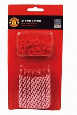 New Manchester United Football Game Birthday Party Candles x 24