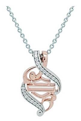 Harley-Davidson Women's Rose Gold & Silver Bling Filigree
