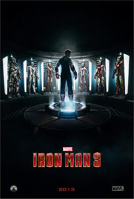 IRON MAN 3 MOVIE POSTER 2 Sided ORIGINAL Advance 27x40 ROBERT DOWNEY JR. on Rummage