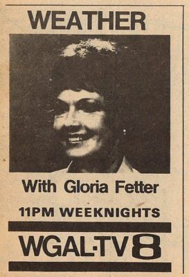 1980 Tv Ad Gloria Fetter Weather News Promo Wgal Lancaster Pennsylvania