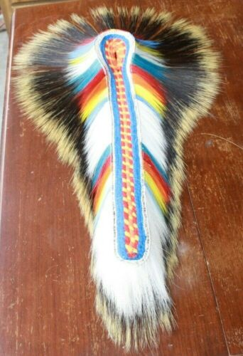 "NATIVE AMERICAN REGALIA 24"" POW WOW PORCUPINE/DEER ROACH FREE SHIPPING"