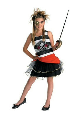 Decked Out Girls Pirate Costume Size Large 10-12 (Pirate Girls Costumes)