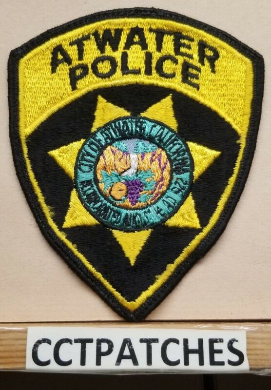 ATWATER, CALIFORNIA POLICE SHOULDER PATCH CA