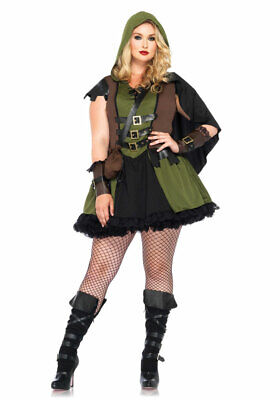 Robin Hood Kostüm Damen Plus Size Mittelalter Jägerin - Plussize Kostüme