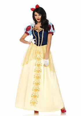 Schneewittchen-Kostüm Damen Luxus Märchen Cinderella Haarschleife Karneval - Damen Märchen Kostüme