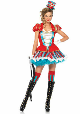 Zirkus-Direktor Kostüm Damen sexy Uniform Dompteurin Damenkostüm Karneval KK