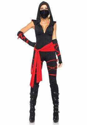 Ninja Kriegerin Kostüm Damen Ninjakostüm sexy Samurai Kämpferin - Damen Ninja Kostüme
