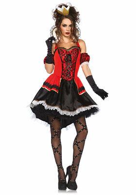 Herzkönigin Kostüm Damen sexy Luxus Alice im Wunderland - Schwarz Alice Im Wunderland Kostüme