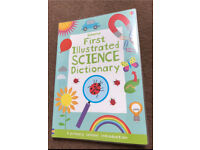 First Illustrated Science Dictionary - Usborne, primary kids, mint condition