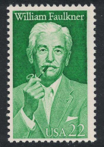 Scott 2350- William Faulkner, Novelist- 22c MNH 1987- unused mint stamp