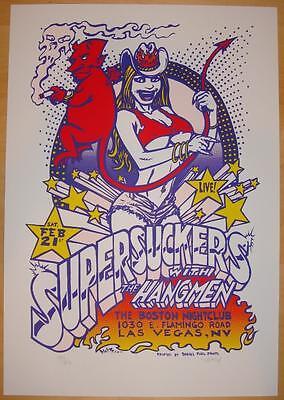 2004 Supersuckers - Las Vegas Silkscreen Concert Poster a/p Dwitt