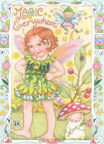 MAGIC IS EVERYWHERE Fairy-Handcrafted Fridge Magnet-w/Mary Engelbreit art