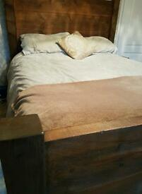 Hand made rustic kingsize bed