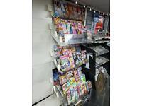 large adjustable Magazine display with acrylic stand