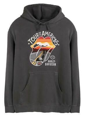 Harley-Davidson Men/'s Rolling Stones Mash Fleece Pullover Crew Sweatshirt Gray