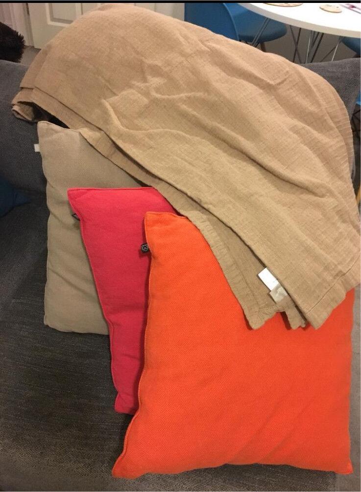 Habitat cushions and throw.