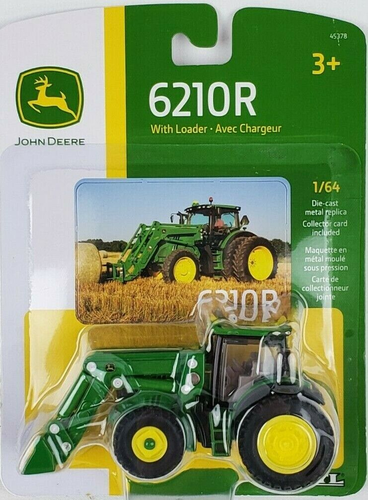 ERTL 1/64th John Deere 6210R Tractor with loader