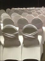 White spandex chair covers for rent
