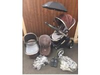 Icandy Peach carry cot & Pushchair - Blackjack