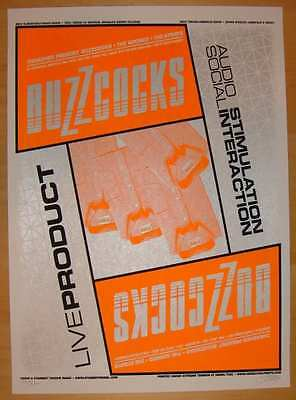 2006 Buzzcocks - Silkscreen Concert Poster s/n Stainboy