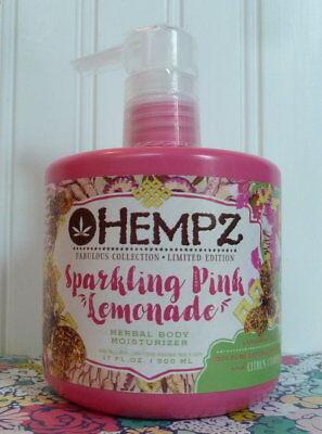 Sparkling Pink Lemonade (HEMPZ SPARKLING PINK LEMONADE HERBAL BODY MOISTURIZER 17 OZ LIMITED)
