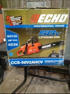 Brand new never used echo chainsaw