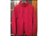 GRAGHOPPERS ANORAK BNWT Size Large Red Zipped Popper Front Built In Hood Burgundy Red