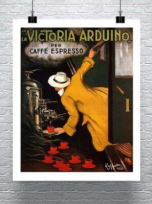 - Cafe Espresso Leonetto Cappiello Coffee Poster Rolled Canvas Giclee 24x30 in.