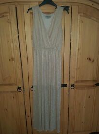 Stunning Gold Maxi Dress S/M £5