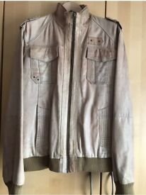 Denim Goods Vintage Mens Real Leather Jacket Uk Sz XL RRP£200