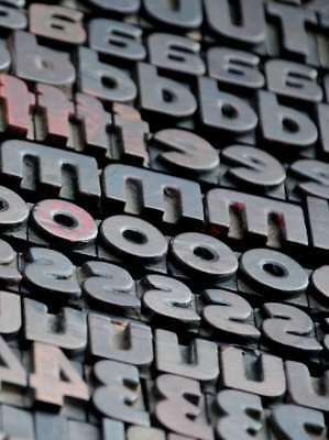 Letterpress Wood Printing Blocks 354 Pcs 0.87 Tall Alphabet Type Woodtype Rare