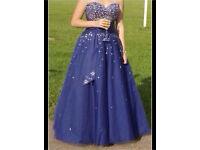 Midnight blue ball gown