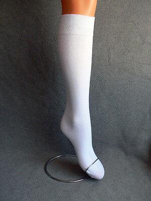 Markenqualität 6 Paar Damen Strümpfe Kniestrümpfe weiß schadstoffgeprüfte Ware