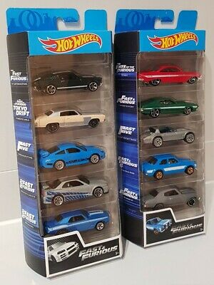 Hot Wheels 5 Packs FAST & FURIOUS Ford Escort RS1600 Nissan Skyline Tokyo Drift