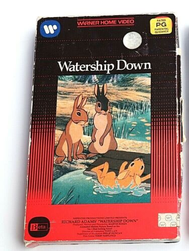 Watership Down Warner Home Video Classic Childrens Movie Adventure Beta Betamax