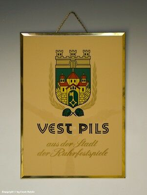 Imoglanz-Blechschild VEST PILS um 1955