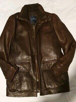 Marks & Spencer Blue Harbour Soft Leather Jacket, Brown Size S